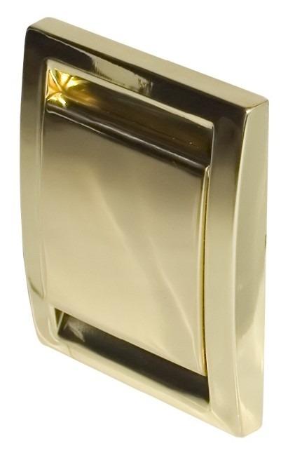 Gniazdo ścienne metalizowane Deco złote