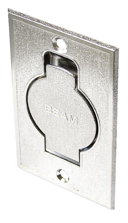 Gniazdo ssące metalowe podłogowe srebrne