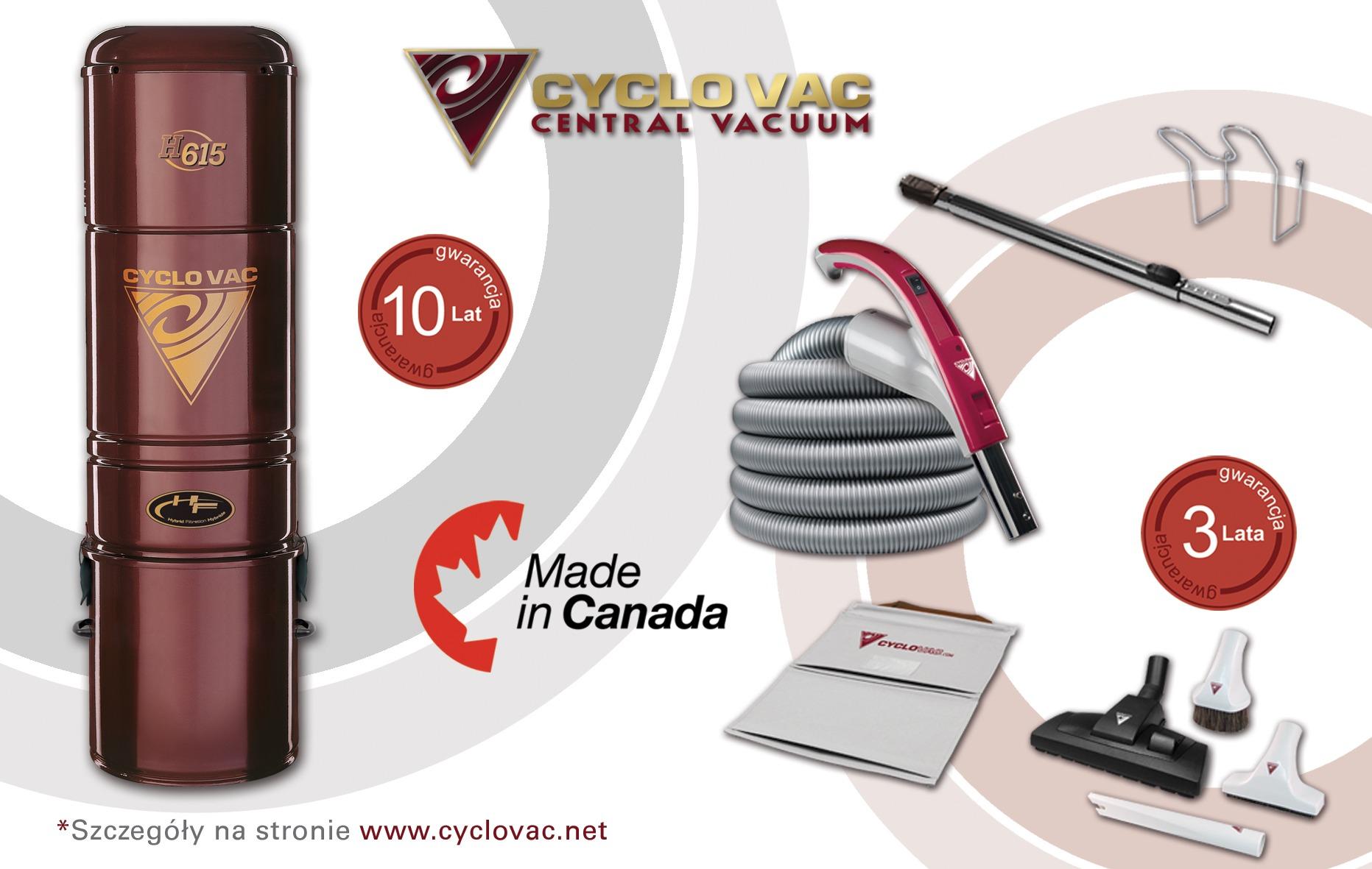 Cyclo Vac H615 + zestaw Modern