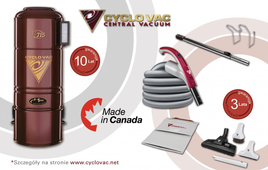 Odkurzacz Cyclo Vac H715 zestaw Modern