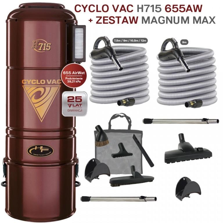 Cyclo Vac H715 + zestaw Magnum Max