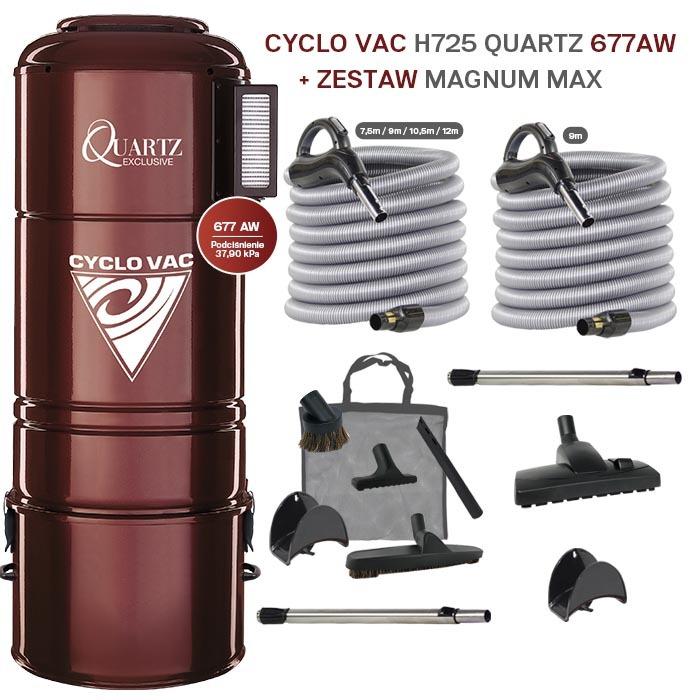 Cyclovac H725 QUARTZ + Zestaw MAGNUM MAX