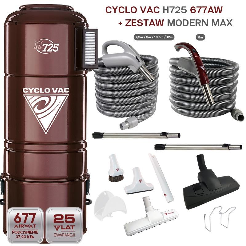 Cyclovac H725  + Zestaw MODERN MAX